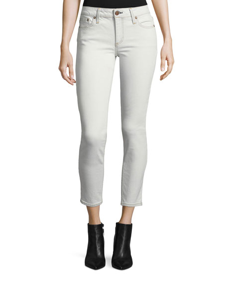 AO.LA by Alice+Olivia Mid-Rise Skinny-Leg Ankle Jeans