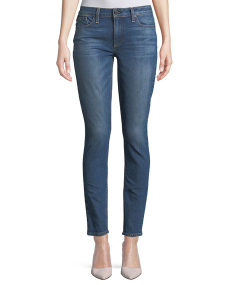 AO.LA Mid-Rise Skinny-Leg Jeans with Studded Trim
