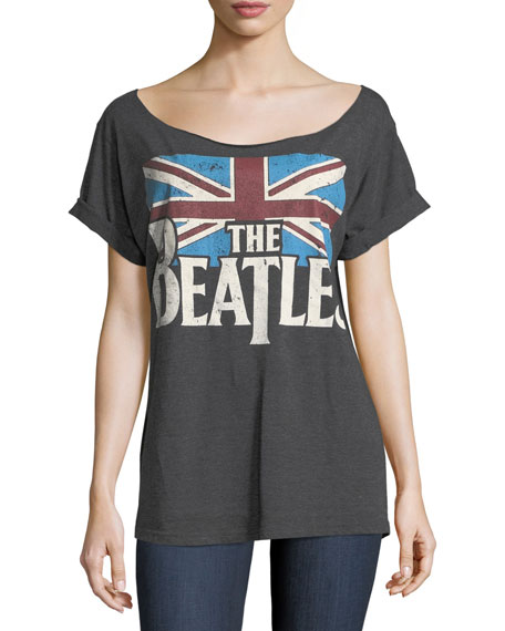 The Beatles Boat-Neck Short-Sleeve Tee