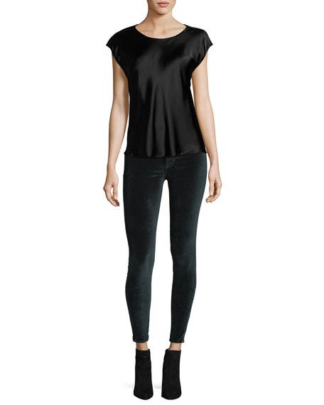 Barbara High-Rise Super-Skinny Velvet Ankle Jeans