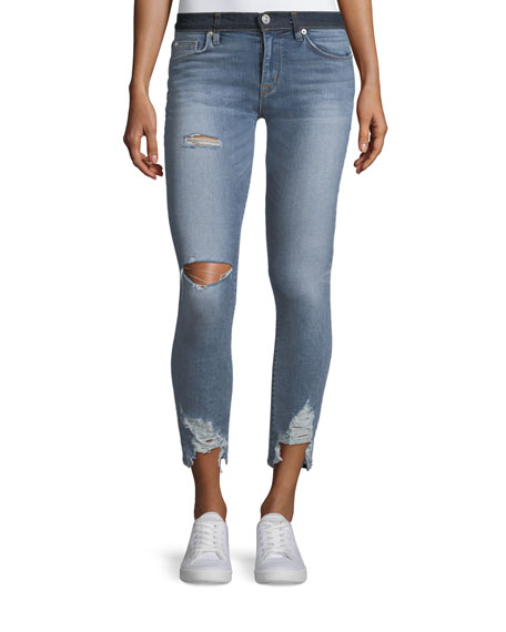 Hudson Nico Mid-Rise Crop Super Skinny Jeans