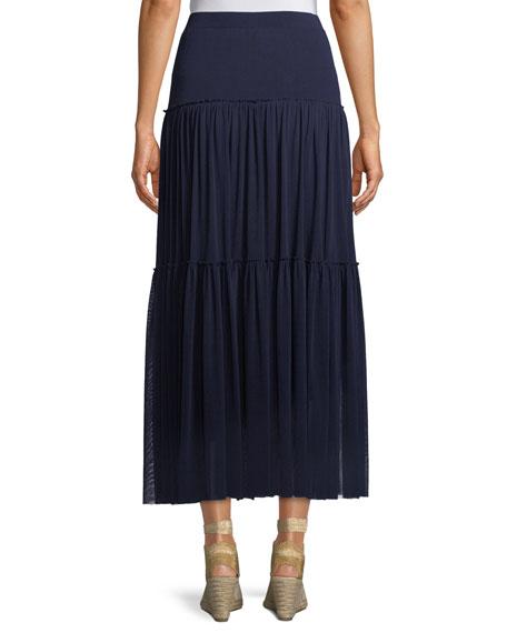 Tiered-Tulle Maxi Skirt