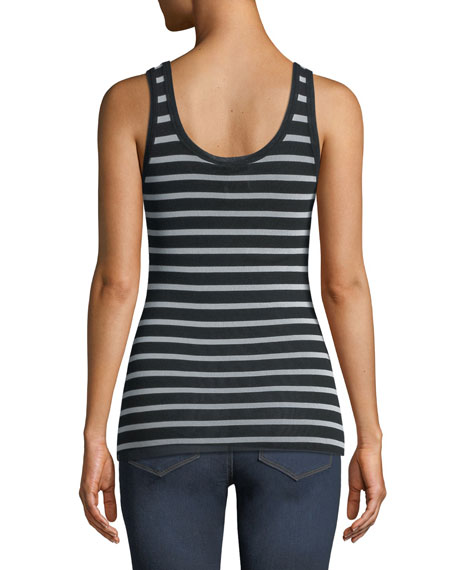 Striped Classic Tulle Tank Top