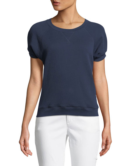 Joie French Terry Half-Sleeves Cotton Top