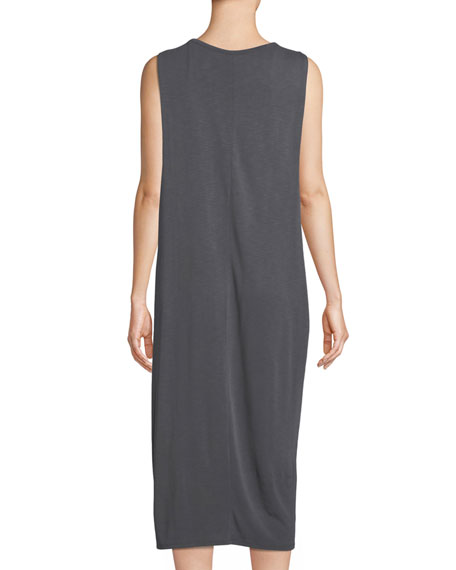 Wanderlust Sleeveless Shift Midi Dress
