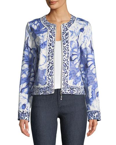 Rainforest Zip-Front Jacket, Plus Size