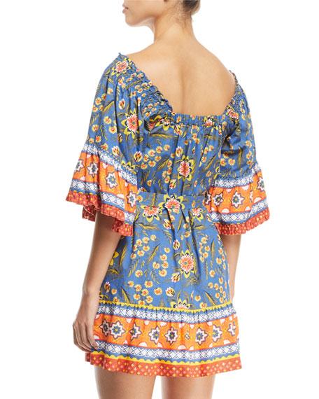Chloris Floral Self-Tie Mini Dress
