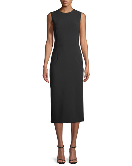 Sabine Cady-Stretch Sheath Midi Dress