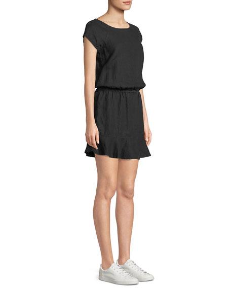 Quora Linen Blouson Dress