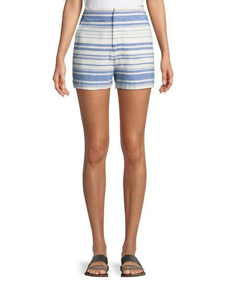 Eudocia Striped Cotton Shorts