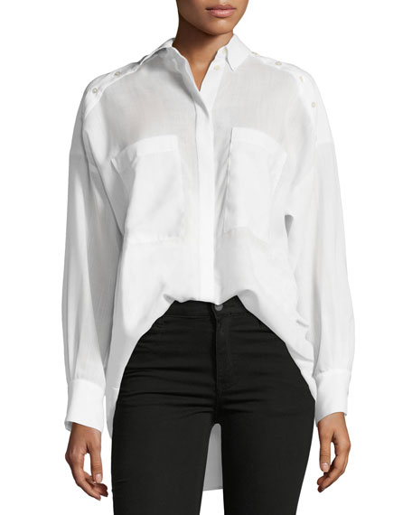 Iro Bocka Button-Down Long-Sleeve Wool Shirt
