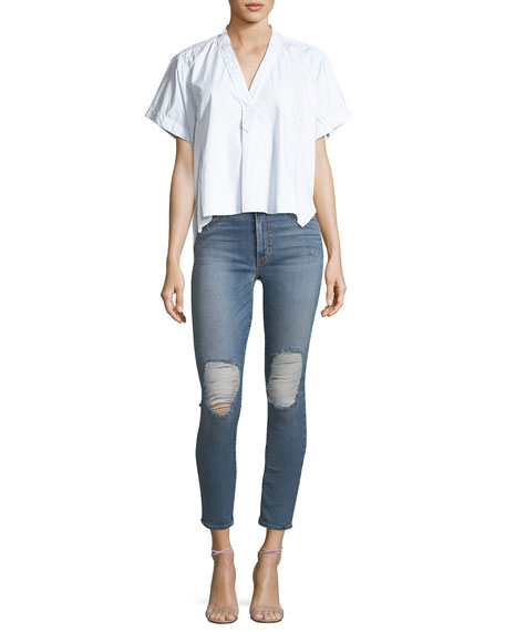Barbara High-Waist Super-Skinny Ankle Jeans