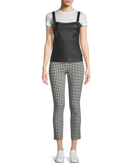 Classic Skinny Gingham Ankle Pants