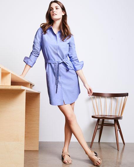 Clean Button-Down Crowley Cotton Shirtdress