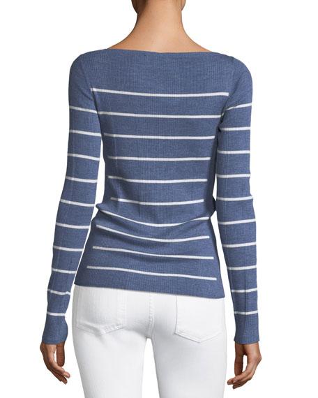 Long-Sleeve Merino Wool Sweater
