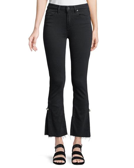 Colette Cropped Flare Jeans w/ Raw Hem