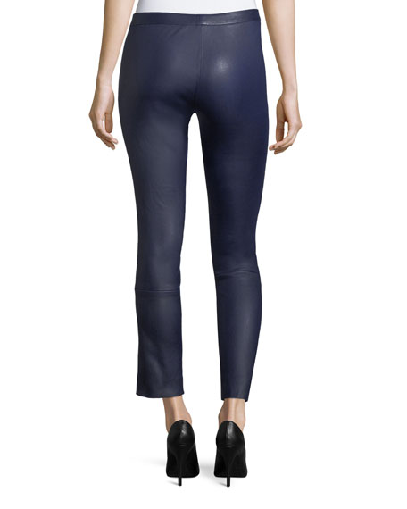 Classic Skinny-Leg Bristol Leather Pants