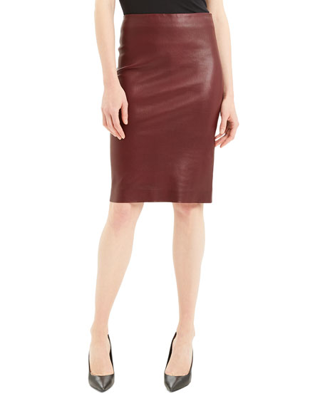 Bristol Leather Skinny Pencil Skirt