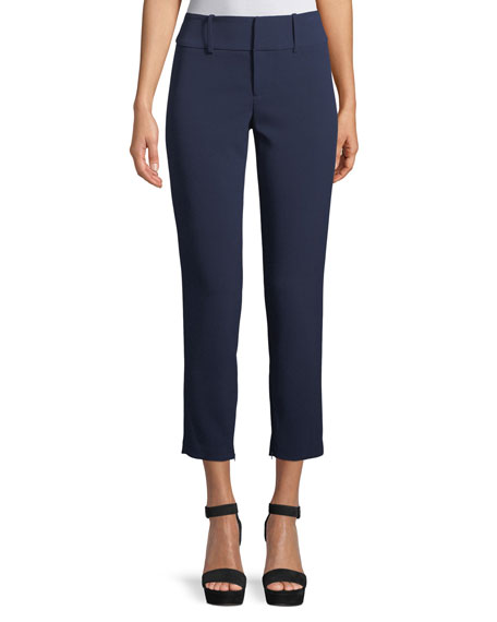 Stacey Slim Straight-Leg Ankle Pant