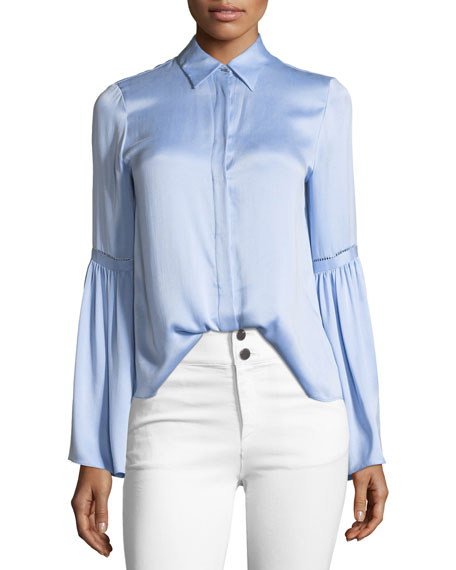 Bolton Button-Down Bell-Sleeve Shirt