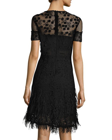 Image 2 of 3: Anabelle Floral Lace Fringe Dress
