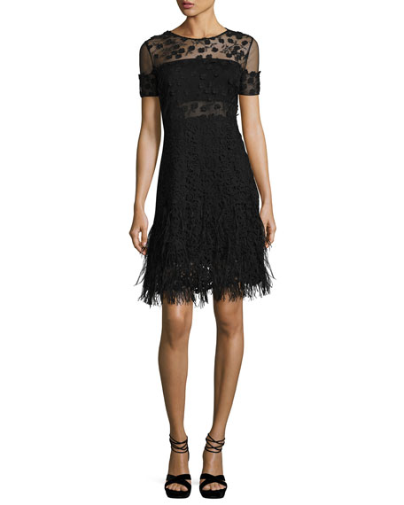 Image 1 of 3: Anabelle Floral Lace Fringe Dress