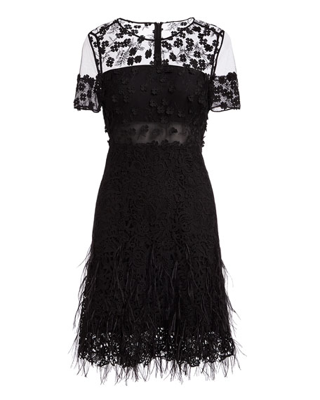 Image 3 of 3: Anabelle Floral Lace Fringe Dress