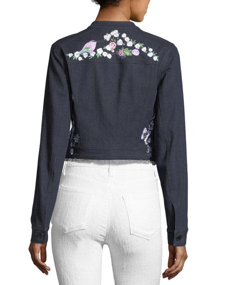 Meggy Embroidered Denim Jacket