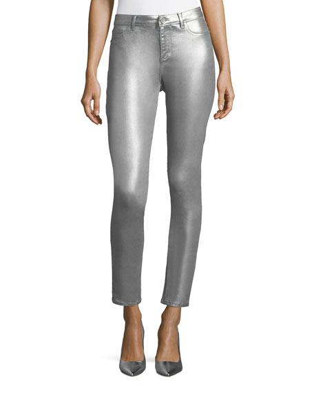 Azella Metallic Skinny Jeans