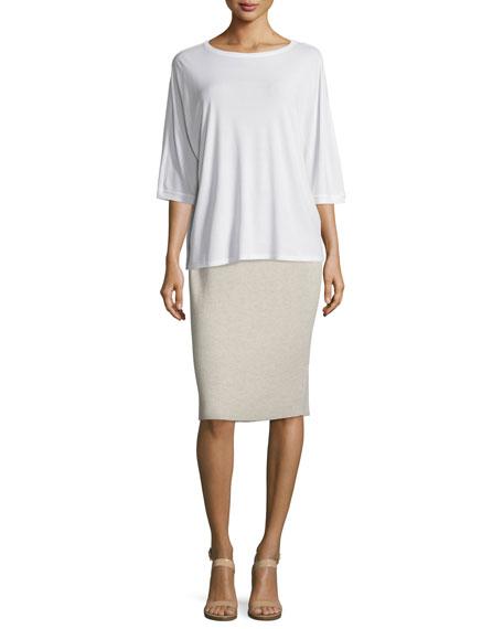 Washable Wool Crepe Pencil Skirt