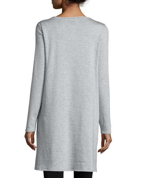 Long-Sleeve Fleece Tunic, Petite