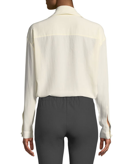 Cam Silk Toile Two-Pocket Shirt