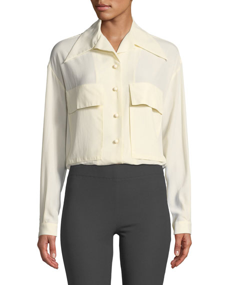 Joseph Cam Silk Toile Two-Pocket Shirt