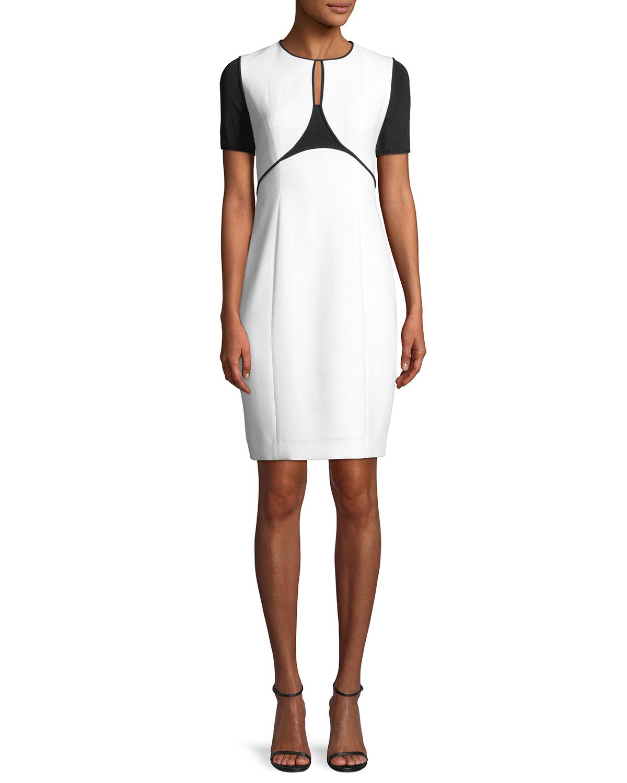 b9d060cccd449 Elie Tahari Nixie Keyhole Sheath Dress | Neiman Marcus