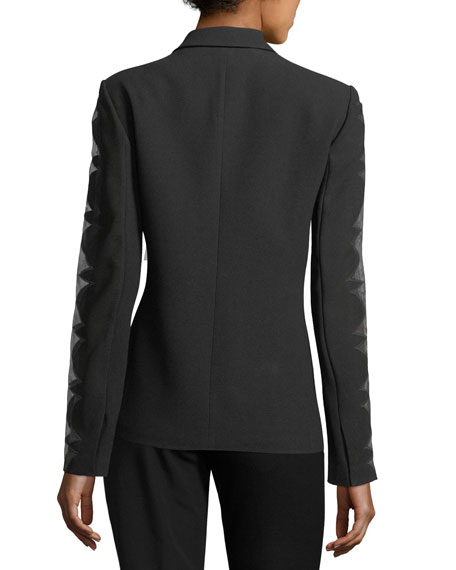 Darcy Organza Long-Sleeve Blazer