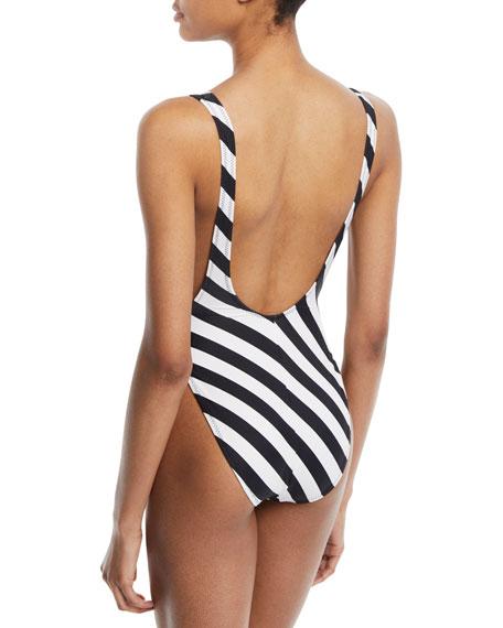 Marissa High-Cut Striped Swimsuit