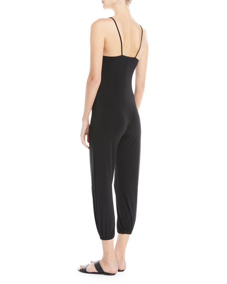 V-Neck Sleeveless Jogger Jumpsuit