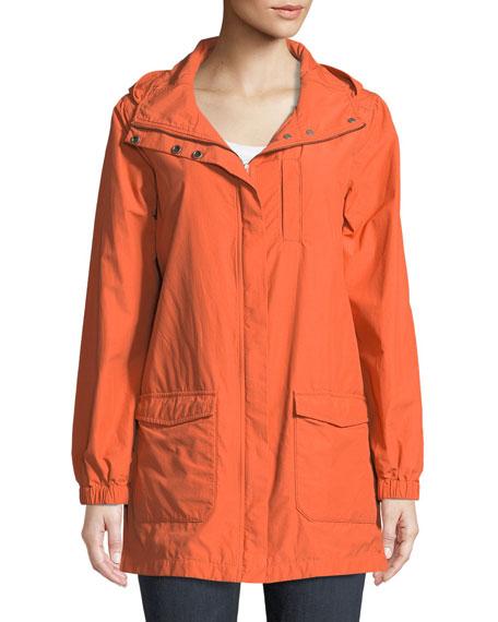 Washed Organic Cotton-Blend Hooded Anorak Jacket