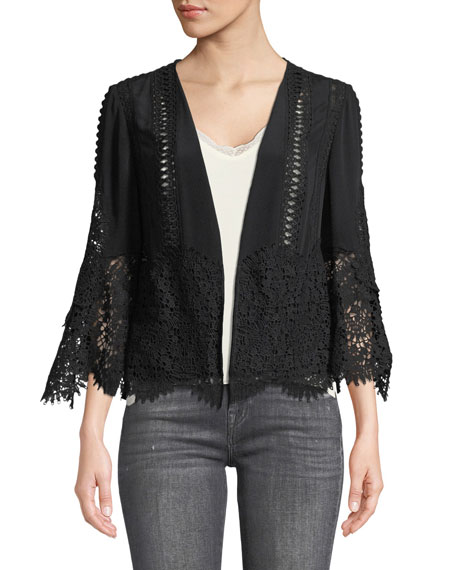 Kobi Halperin Amira Open-Front Scalloped Jacket and Matching