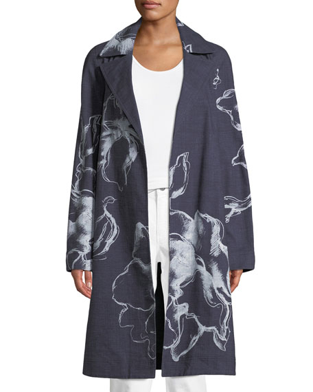 Dina Desert Bloom Textured Trench Coat