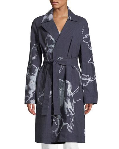 Dina Desert Bloom Textured Trench Coat