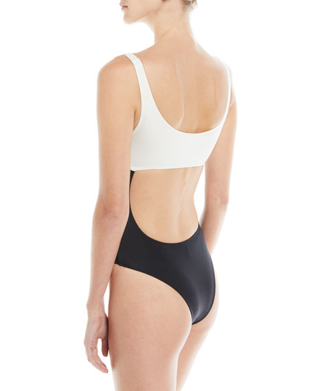 Natasha Peek-A-Boo Colorblocked One-Piece Swimsuit
