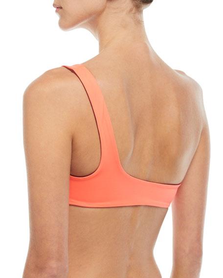 Isabeli One-Shoulder Reversible Swim Top
