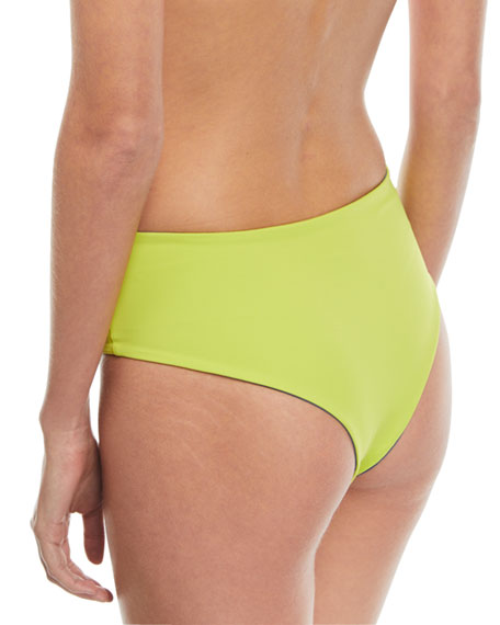 Isabeli High-Waist Reversible Swim Bikini Bottoms