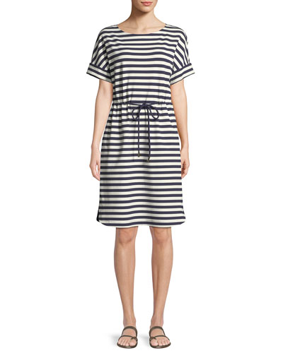 Brandon Bedford Striped Drawcord Dress
