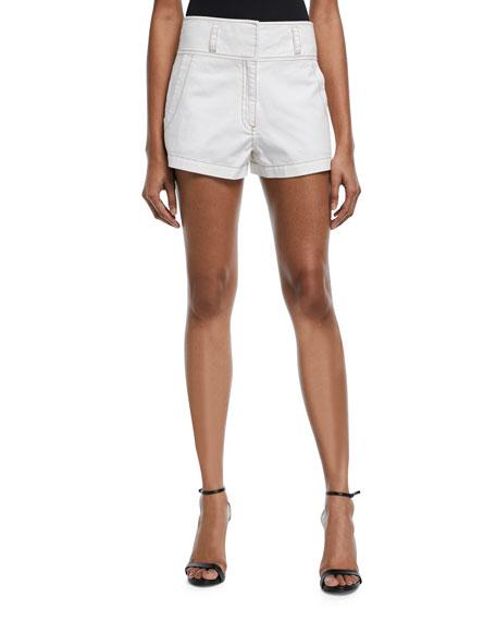 Shiloh High-Rise Twill Shorts