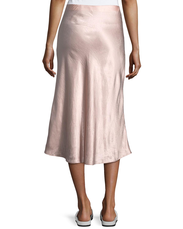 9571cf7532a2 Vince A-Line Satin Slip Midi Skirt | Neiman Marcus