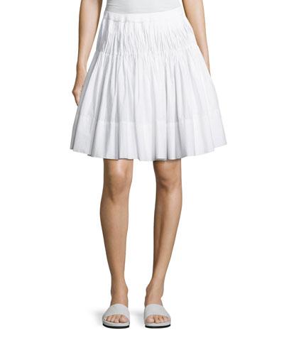 4a14c2ddba72 Vince Pleated Knee-Length Skirt with Braided Waist