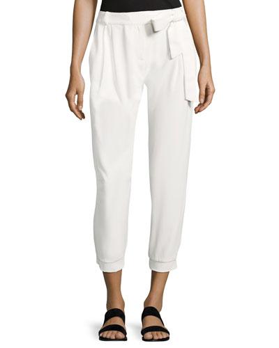 Elliott Mid-Rise Cropped Pants, White