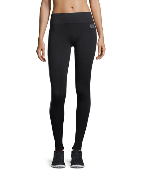 Monreal London Hi-Tech Side-Stripe Seamless Performance Leggings